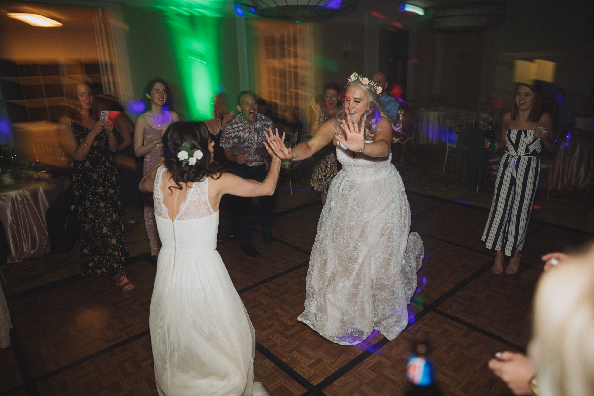 Kelsey and best friend dancing