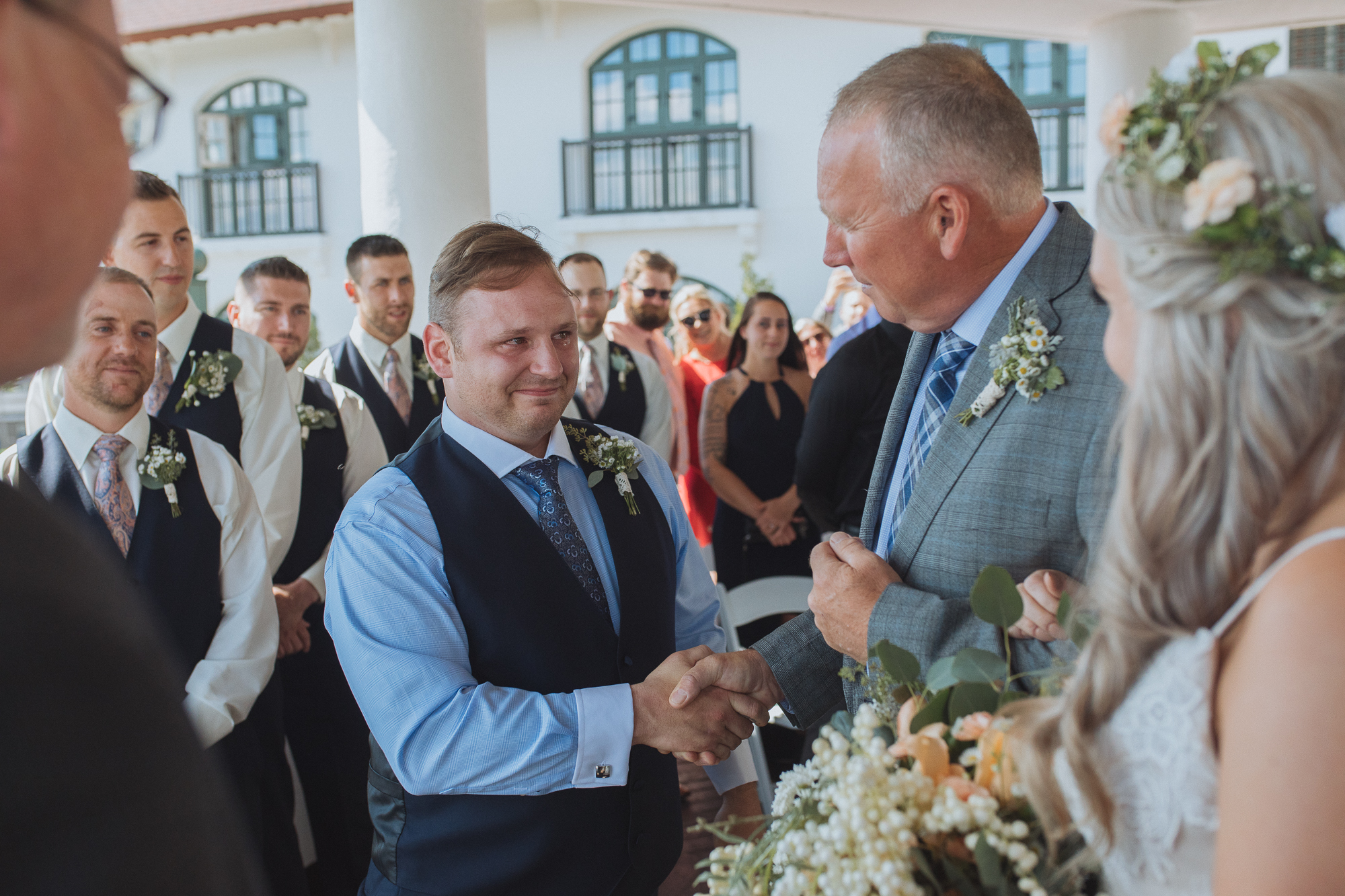 The handshake - Algonquin Garden Rooftop Wedding