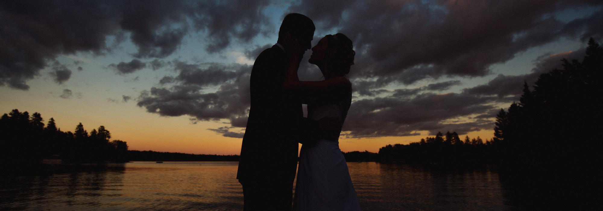 Silhouette Wedding Shot