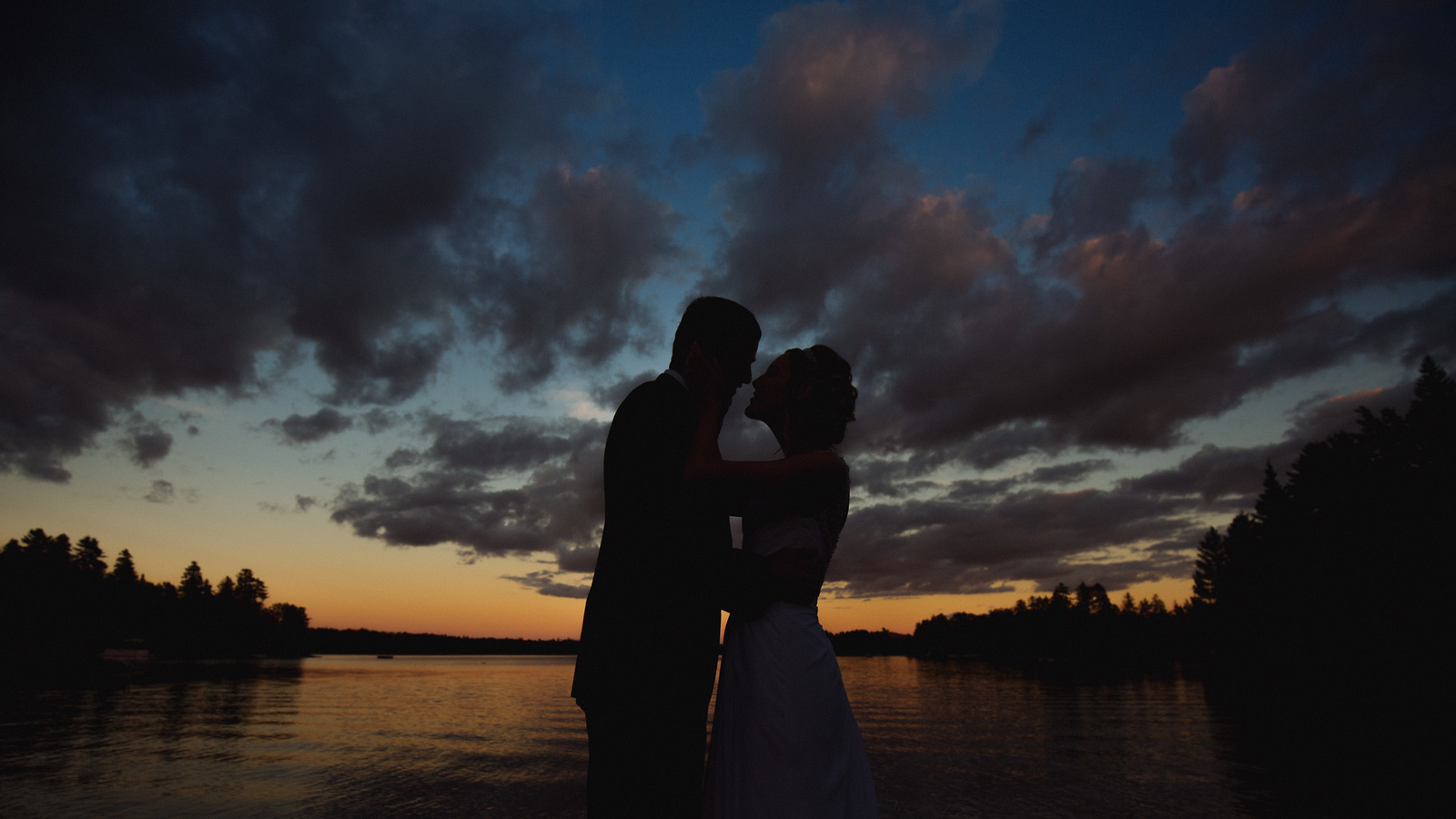 Amazing wedding silhouette