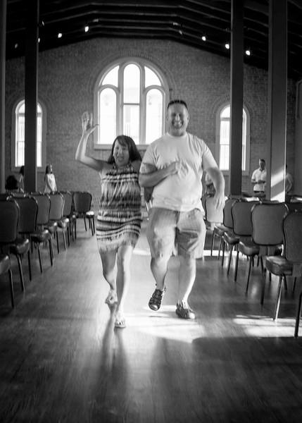 Corina  & Steve Rehearsal
