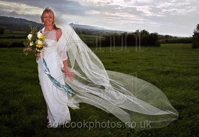 Bride in Landscape