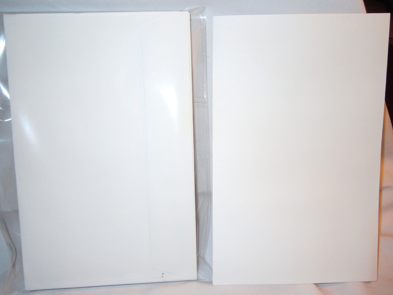Picture of envelopes with flash<br /> <br /> Left over white envelopes from my wedding invitations.<br /> <br /> There are 36 white A9 Greeting Card size envelopes with a square back flap. $5