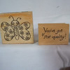 Wooden Rubber Stamps<br /> Butterfly NEW, $1<br /> You've got star quality!, (I bought it used), $1