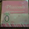12 placecards, pink with polka dots, stripes with a diamond ring pop up. $.25, 1 package available