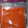 Close up of bags<br /> <br /> Orange and white polka dotted plastic sandwich bags.  Great for favors.  20 per pack.  4 packs available.  $1 each.