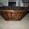 another side view of basket<br /> <br /> Rustic aged brown basket, $5