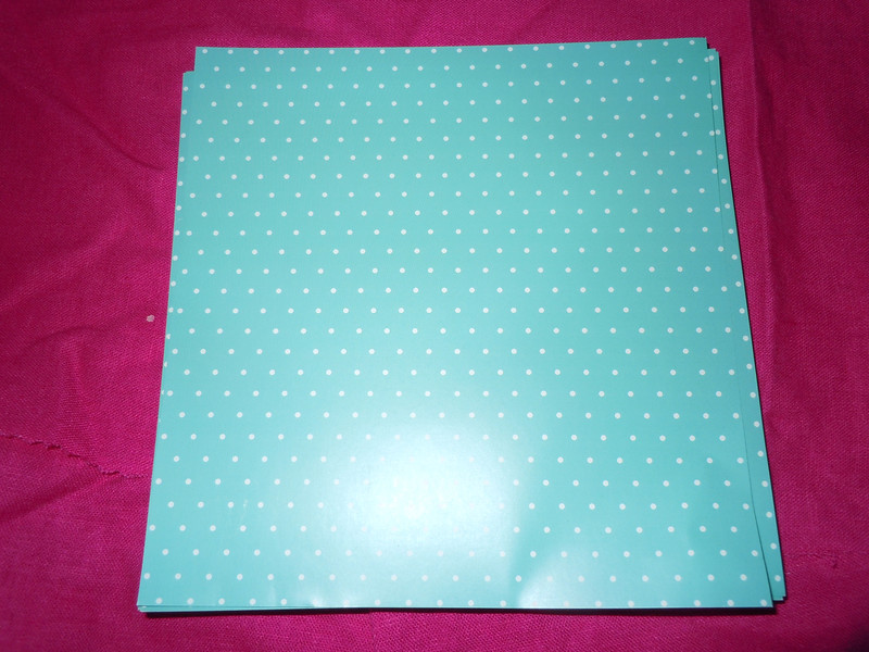 "Ocean blue/green with white polka dots envelope liners, 6 1/8"" x 6 3/8""<br /> Glossy, 100 ct<br /> $8"