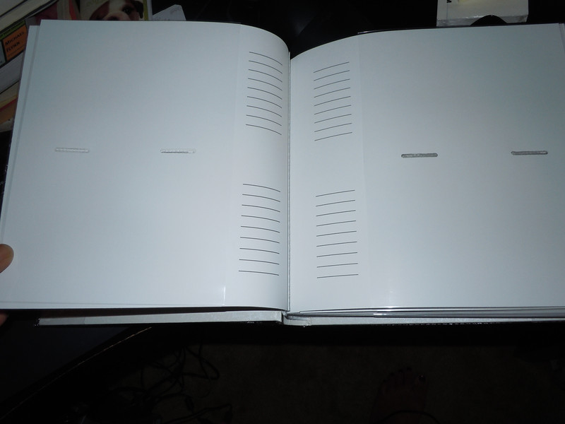 ::UNAVAILABLE::<br /> picture of inside pages with plastic covers<br /> <br /> New White pearlized wedding photo book.  4x6 photos, 50 pages, holds 100 photos total.<br /> <br /> one available, $5