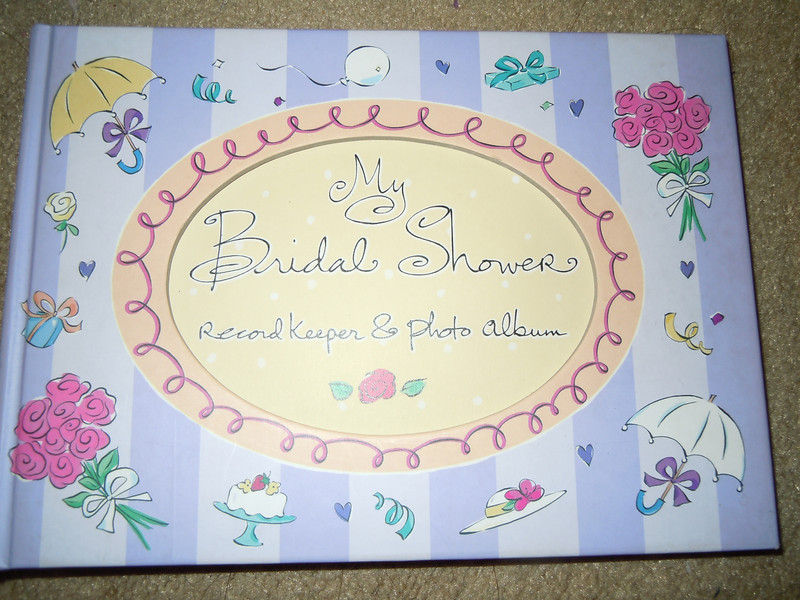 Bridal shower hardcover book, $2