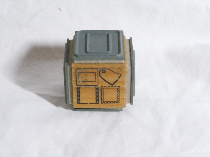 wooden rubber stamp<br /> Stampendous<br /> Has all tags posted on the side so 4-stamps on this block<br /> New, $2
