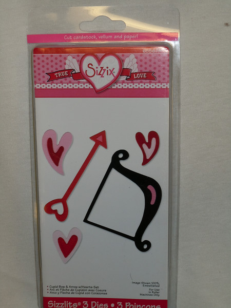 Sizzix True Love Series Sizzlits Set, Cupid Bow & Arrow w/Hearts Set, #655674.  Brand New in packaging, one available, $6