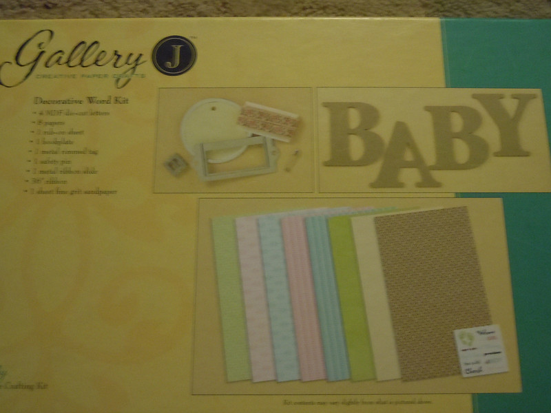 Baby Decorative Word Kit.  New in Box. One available, $7