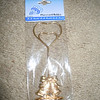 gold place card holder with wedding bells, 1 available, $1