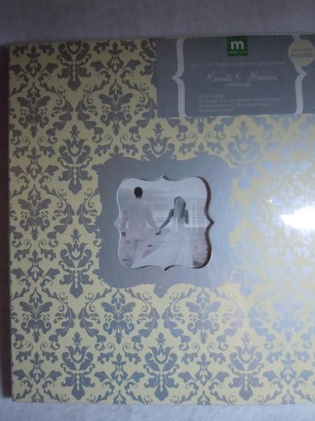 "Making Memories brand Wedding Scrapbook.  Pred-designed Journaling Album. 8 ½""x11"".  ""Moments & Memories Wedding"".  One available, $10"