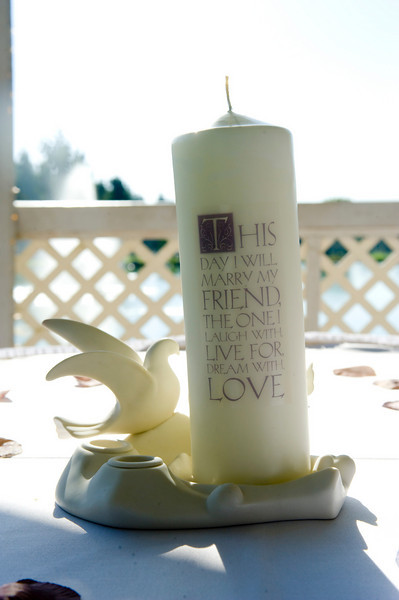 Dove porcelain unity candle holder.  Used but in the box. *candle not included*<br /> <br /> $5