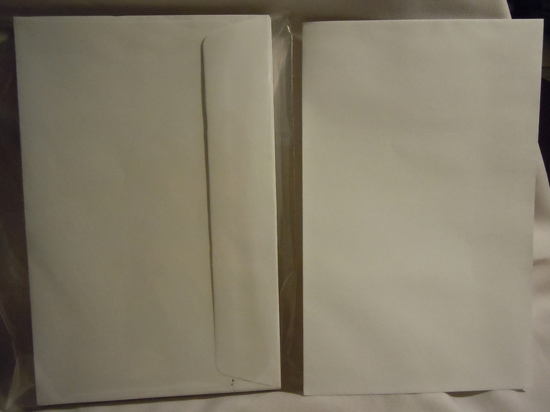 Left over white envelopes from my wedding invitations.<br /> <br /> There are 36 white A9 Greeting Card size envelopes with a square back flap. $5