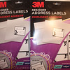 "Picture of both packages.<br /> <br /> 3M Designer Address Labels for Laser or Inkjet Printer, White labels with black bordering and vine/leaf design.  There are 150 labels per package.  15 labels per sheet, 10 sheets per package.  Label size is 2""x2 5/8"".  $4 each package or $6 for both."