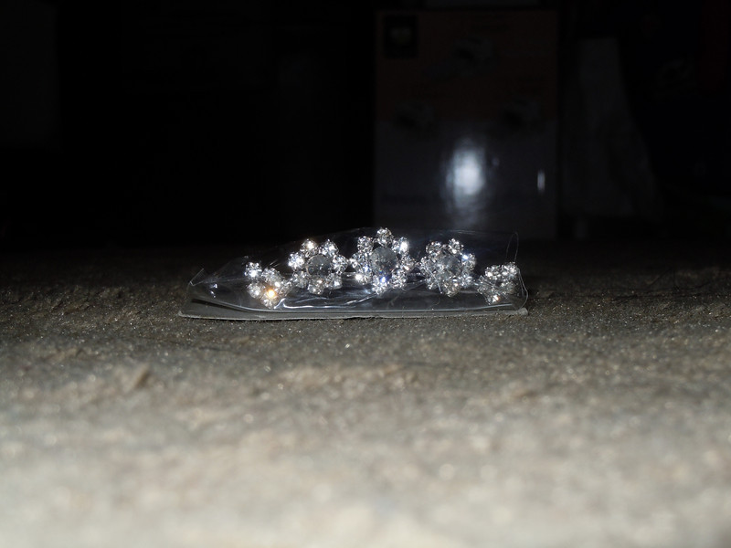 Close up of the gem roses on the tiara comb<br /> <br /> Best occasions tiara comb, $4