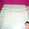 Close up of one, Make yourself at home! CLEAN my kitchen.<br /> <br /> Recipe cards that I bought for a kitchen theme bridal shower, 7 new sets with 30 per pack and several mix packs that I made for the shower itself.  All recipe cards, $3