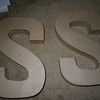 "8"" paper mache letters, each one will be a $1"
