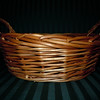 "double handle wooden basket, one available, $2<br /> base is 9.5"" wide, Top is 11"" wide, 4"" tall"
