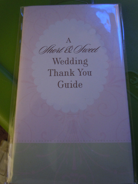 Small book: A short and sweet wedding thank you guide, $.50