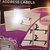 "3M Designer Address Labels for Laser or Inkjet Printer, White labels with black bordering and vine/leaf design.  There are 150 labels per package.  15 labels per sheet, 10 sheets per package.  Label size is 2""x2 5/8"".  $4 each package or $6 for both."