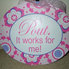 Princess girl sign.  New but has gotten dirty in storage.  One sign available, $4