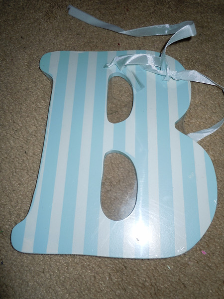 """Hanging letter B.  Brand new in package.  Almost 8"""" in height, about 6"""" in width.<br /> 1 available, $1"""