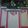 All packages together<br /> <br /> Party Occasion 10 Stationary Sheets w/envelopes.  Pink border with womens' legs, feet, and shoes at the top center.  There are 5 packages available.  $2 each