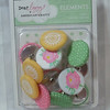 Dear Lizzy & American crafts elements large fabric brads<br /> 1 available, $2 each