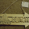 wooden beach sign, $2