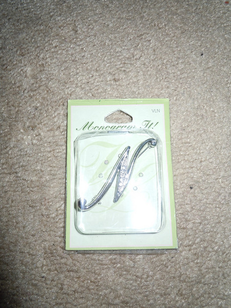 "New in Package, crystal silver N, about 3"".  NEW, $5"
