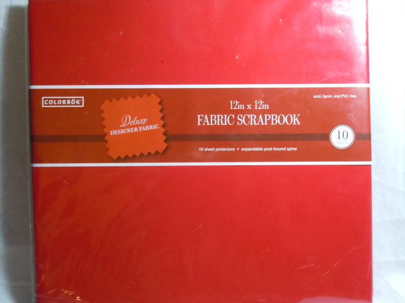 """Colorbok Brand.  Deluxe Designer Red Fabric Scrapbook.  This has 10 protective page sheets inside, expandable.  12""""x12"""".  One available, $8"""