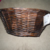 Rustic aged brown basket, $5