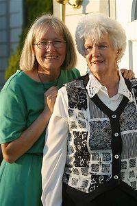 Toni MacAskill and Shirley Johnson
