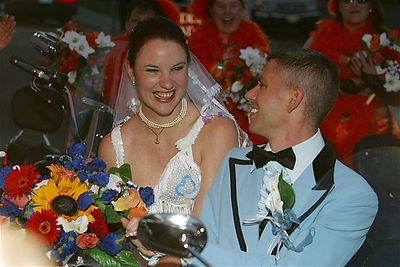 Harley Drive-by Wedding