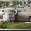 Donna and the Rolls Royce to deliver her to the ceremony.  Limo for her bridal attendants in the background.