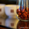 Red goji berries for the tea ceremony.