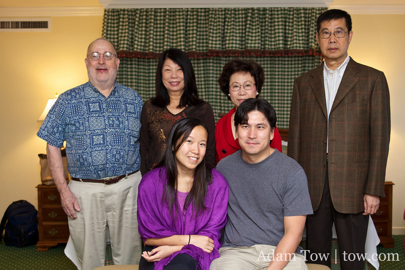 Proudfoot family with the Wong family.
