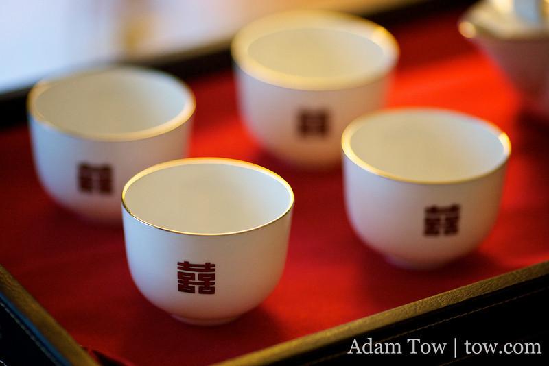 Tea ceremony cups.