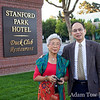 Kitty and Danny outside the Stanford Park Hotel in Palo Alto.