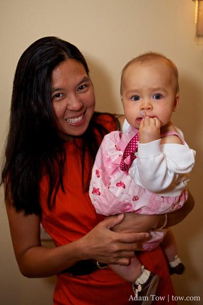 Kekoa's cousin with her new daughter, Alyssa.