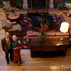 Kitty and Danny inside the lobby of the Stanford Park Hotel in Palo Alto.