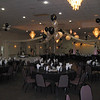 Prom Dance Canopy- Silver and Black Balloons with lighted lanterns.<br /> Maneeley's in South Windsor