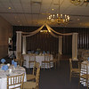 Cornflower Blue and Yellow Wedding- This was a small dance floor with one of the existing chandeliers as the center.  This chandelier was centered on the dance floor, so we used it as the center and decorated it with blue and yellow flowers.  <br /> A Villa Louisa in Bolton