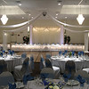 White and Blue Wedding- The dance canopy is white with lighted columns and a center decoration that was made just for this bride.  <br /> Maneeley's in South Windsor