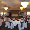 Before the Dance Canopy- This was before a Bridal Show. The tables and chairs are set with different colors and styles to showcase different options. <br /> Georgina's in Bolton