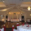 "This is the After Picture.  The dance canopy, lighted head table and lighted cake table add sparkle and elegance.  This is a simple dance canopy, no flowers or kissing ball in the center.  <a href="" http://www.maneeleys.com/"">Maneeley's</a> in South Windsor"